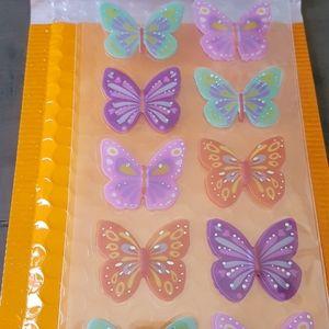 16 Handmade 3D Pop-Up Firefly Stickers (1 Sheet)